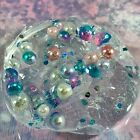 "Clear ""UNICORN RAINBOW"" Stretchy Slime Color Beads Iridescent Glitter 4 6 8 oz"