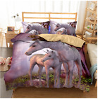 Single Double Twin Full Queen King Bed Pillowcase Quilt Cover Oaur Unicorn sldjs
