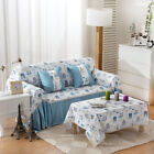 Cartoon Print Cotton Blend xhace L-Shape Sofa Cover Protector for 1 2 3 4 seater