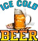 Ice Cold Beer DECAL (CHOOSE YOUR SIZE) Mug Drinks Truck Concession Sticker