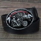 Harley Davidson Motorcycle Bike Riders Born To Be Free Buckle Belt For Men