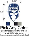 Dallas Cowboys Skull Logo Car/Truck Window DECAL Vinyl STICKER