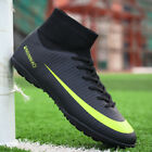 Men Boys Soccer Cleats Shoes Fashion Indoor Football Shoes Sock Shoes Athletic