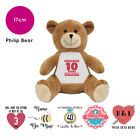 Personalised Name Philip Teddy Bear Anniversary Valentines Present Gift Gifts