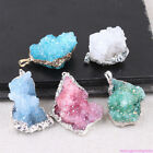 Natural Agate Geodes Raw Stones Crystal Polished Pendant Necklace Jewelry Making