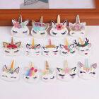Внешний вид - 10 x Sleepy Unicorn Flat Back Planar Resin Embellishment Kids Hair Bow DIY Craft