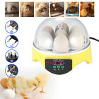 1X Digital Egg Incubator Automatic Turning 7 Eggs Poultry Hatcher Chicken Yellow