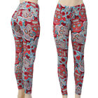 Butter Soft Skull Design Patterned Leggings Stretchy & Comfortable Sugar Skulls