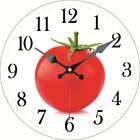 Round Wooden Wall Clock Fruit Design Tomatoes Home Kitchen Bar Decor Gift