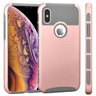 "For iPhone XS/X 5.8"" Phone Hybrid Hard Shockproof Thin Slim Glossy Case Cover"