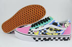 VANS OLD SKOOL DISNEY 80'S MICKEY WHITE/PINK/BLACK/MULTI CHECKER MEN WOMEN SIZES