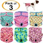 PACK -3pcs Female Dog Diapers Cat LEAK PROOF Waterproof Washable Small Large Pet