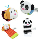 4 PCS SET  BABY ANIMAL HAND WRIST RATTLE & FOOT FINDER