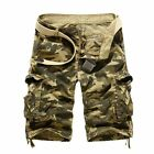 Cotton Camouflage Military Cargo Khaki Casual Slim Jeans Shorts For Men