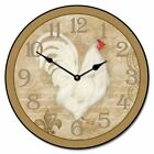 White French Hen Wall Clock Charming Rooster Clock Wall Decoration