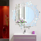 Hot 3d Feather Mirror Art Wall Sticker Room Decal Mural Diy Home Decoration