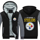 2018 Pittsburgh Steelers Hoodie new Winter Fleece Mens Thicken Sweatshirts Coat on eBay