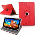 """New Rotating 360° PU Leather 7"""" 8"""" 9.7"""" 10 inch Case Cover For Android Tablet PC"""