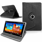 """7"""" 8"""" 9.7"""" 10 inch Case Cover PU Leather For Android Tablet PCNew Rotating 360°"""