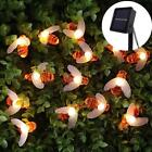 Solar String Lights For Christmas Decors Honey Bee And Lady Bug Style Waterproof