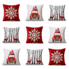2pcs Xmas Christmas Gift Pillow Case Cover Multi Pattern Home Décor 5 + Colors image