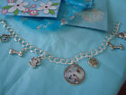 """CHINESE CRESTED""  Charm bracelet.  gift.  NEW with gift bag"