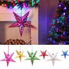 30/45/60cm 3D Star Paper Lampshade Hanging Ornaments Christmas Tree Home Decor