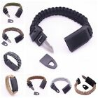 3in1 Outdoor Camping Braided Paracord Bracelet Whistle Steel Knife Wrist Strap