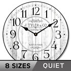 Harbor White  Wall Clock Whisper Quiet , Non ticking Ultra Quiet Home Decor