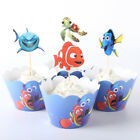 Cake Wrappers + Picks Party NEMO PAW PATROL 24pc (12 Wrappers + 12 Picks) NEW