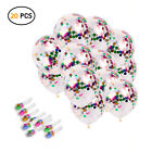 20 Pcs Gold & Multi Color Confetti Balloons New Years Party Decoration