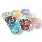 50X Laser Cut Cupcake Wrappers Cup Cases Filigree Vine Liner Wedding Birthday-ZH