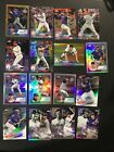 2018 topps chrome base & refractor & pink & 83 refrac prism inserts blue auto