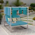 Amos Outdoor Aluminum Daybed with Canopy