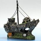 Wreck Sunk Ship Aquarium Ornament Sailing Boat Destroyer Fish Cave Decor Resin