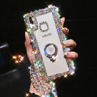 Luxury Bling Ring Holder Stand Kickstand Case phone Cover & Crystal Strap #9