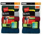 Hanes Mens 12-Pack Cotton Briefs Assorted Colors Tagless Comfort Soft Waistband