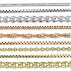 Amberta Real 925 Sterling Silver Necklace Chain for Kids Children Size Italy