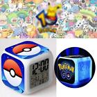 Hot Pikachu LED Colour Bedlight Digital Alarm Clock Kids Children Pokemon Anime