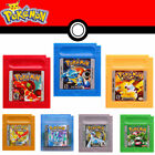 Uk 1/7 Pcs Sets Version Game Card Classic Video Games Nintendo Pokemon Gameboy