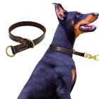 Dog Collar Genuine Leather Slip P Choke Collars for Large Dog Taining K9 Pitbull