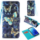 For Samsung Galaxy Note 9 S8/S9+ Leather Card Wallet Case Wristband Phone Covers