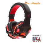 Gaming Headset Stereo Headphone 3.5mm Wired With Mic For PS4 PS3 Laptop PC