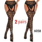Cytherea 2 pairs Sexy Lace Pantyhose Tights Lady fashion plus size Stockings