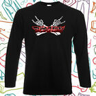 Maximum the Hormone Rock Band Logo Men's Long Sleeve Black T-Shirt Size S to 3XL
