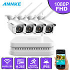 ANNKE HD 1080P FHD 4/8CH NVR Wireless Outdoor Security Camera System IP66 1TB
