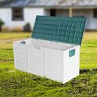 Plastic Outdoor Chest Storage Box Garden Container Patio Lid Utility Shed Seat