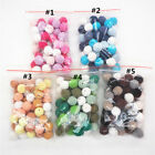 Cotton Crochet Wooden Beads DIY Baby Teething Jewelry Chewable Necklace Teethers