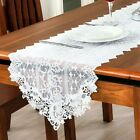 Newly White Lace Tea Table Runner Embroidery Cloth Wedding Party Banquet Decor