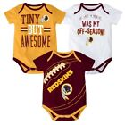 Washington Redskins NFL Outerstuff Infant Maroon/Gold/White 3 Piece Creeper Set
